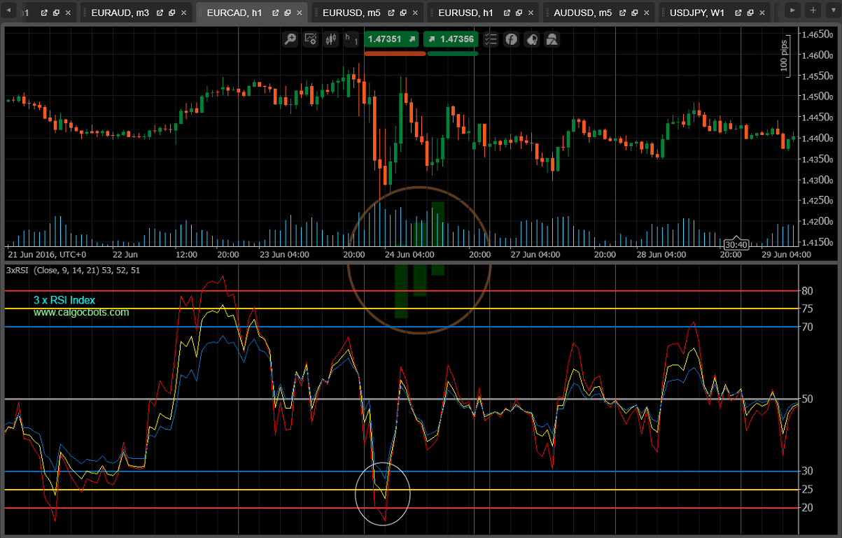 3 X RSI Indicator Example 2